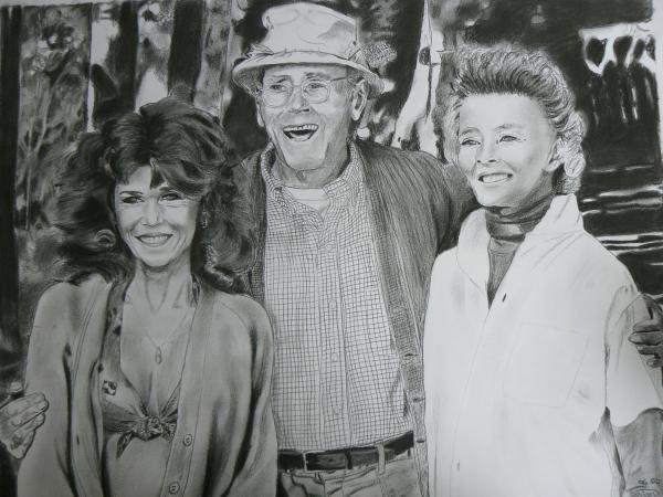 Katharine Hepburn, Henry Fonda, Jane Fonda by johnsy